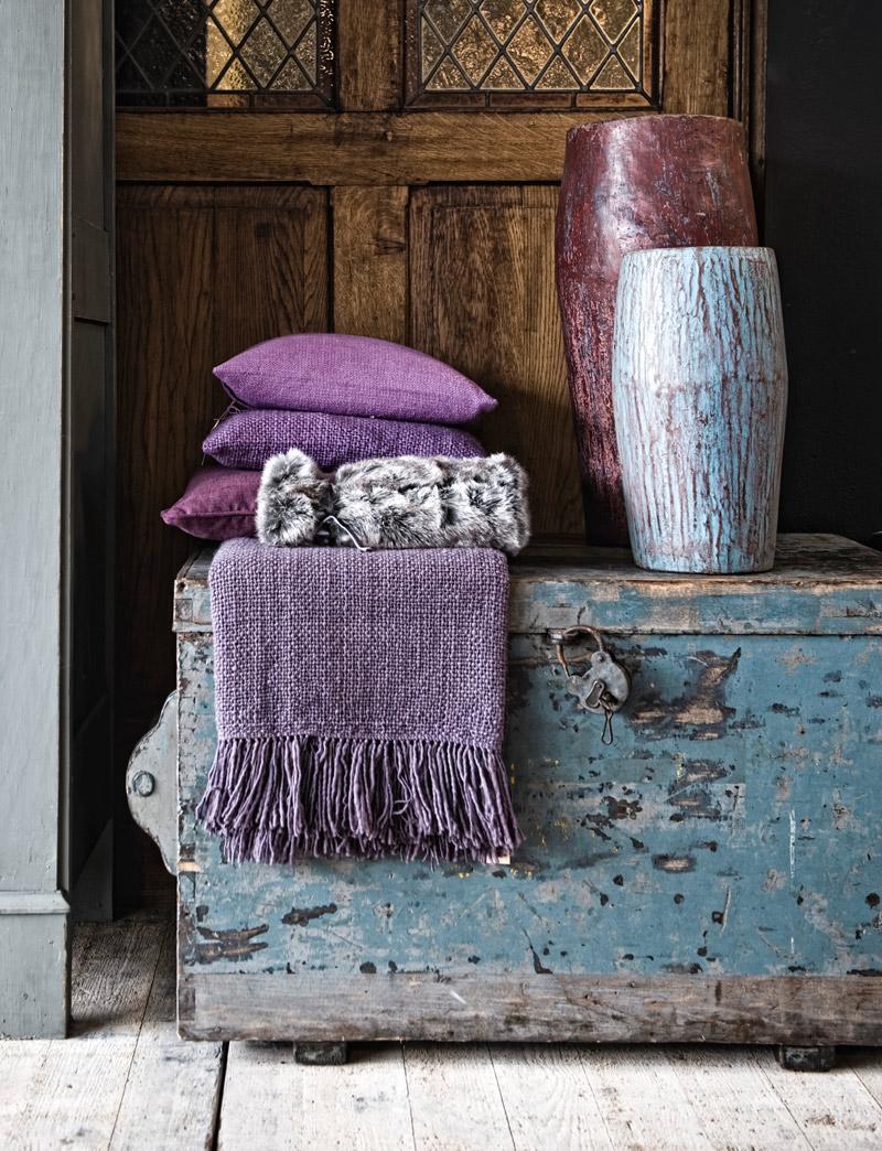 paarse kussens, dekens