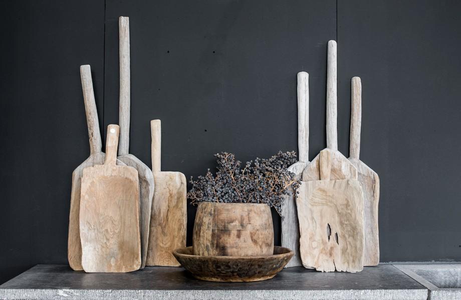 oude houten bakkerschalen