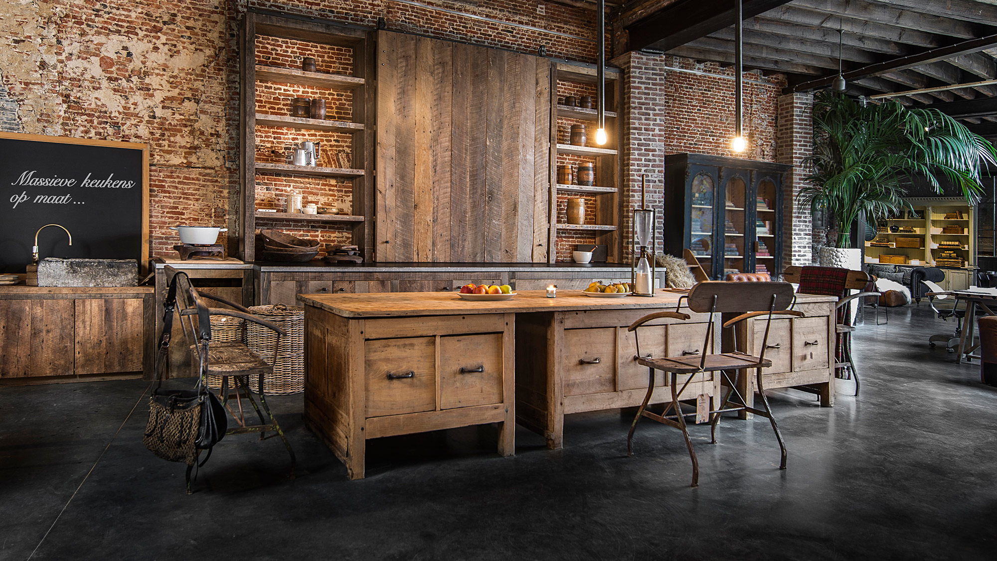Hout antieke keuken ~ gehoor geven aan uw huis