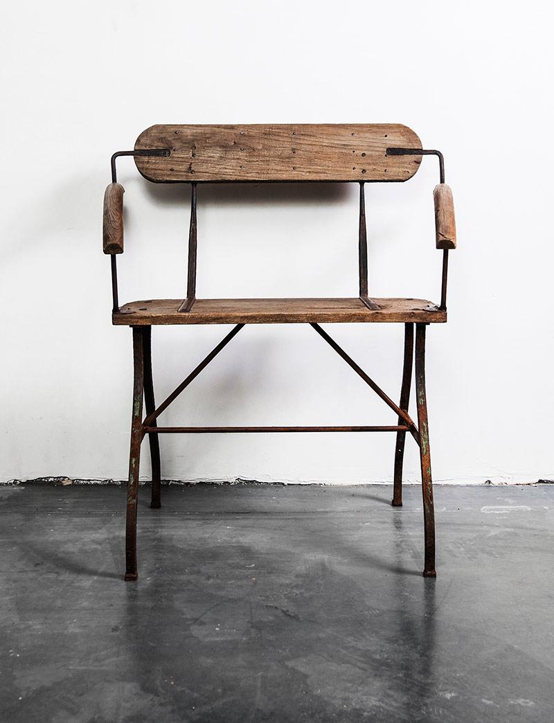 houten tweezit stoel