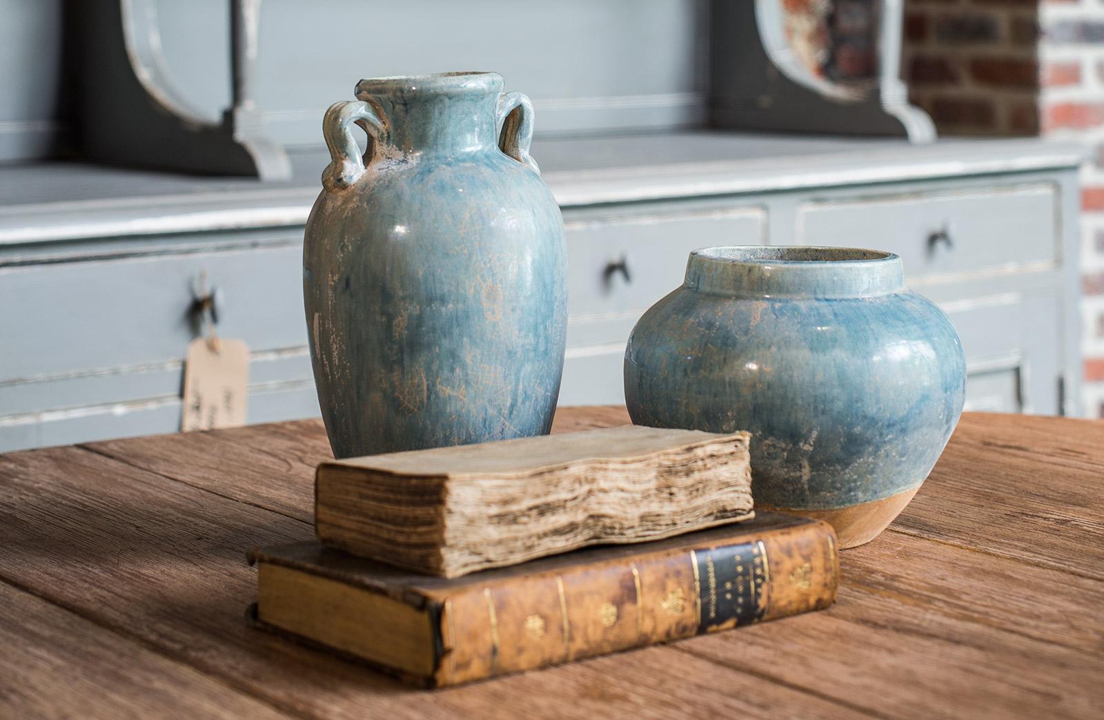 decoratieve handgemaakte keramieken vazen woontheater