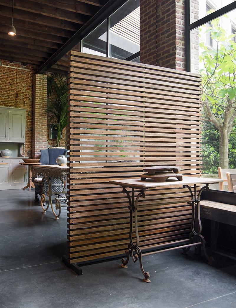 room divider wood