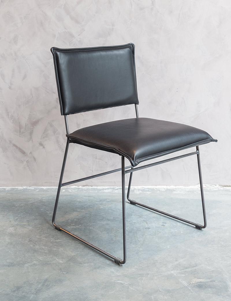 Lederen stoel