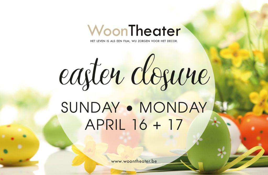 Easter closure: beide showrooms gesloten