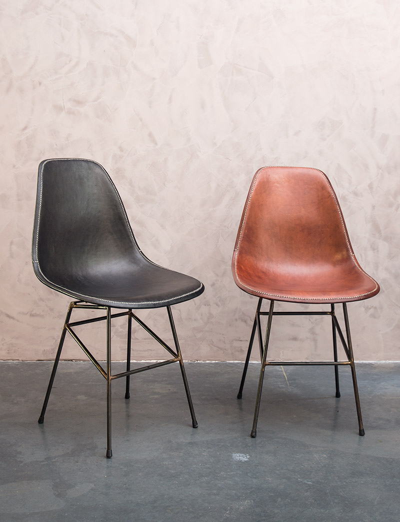 Design Leather Dining Chairs Sol Y Luna Woontheater