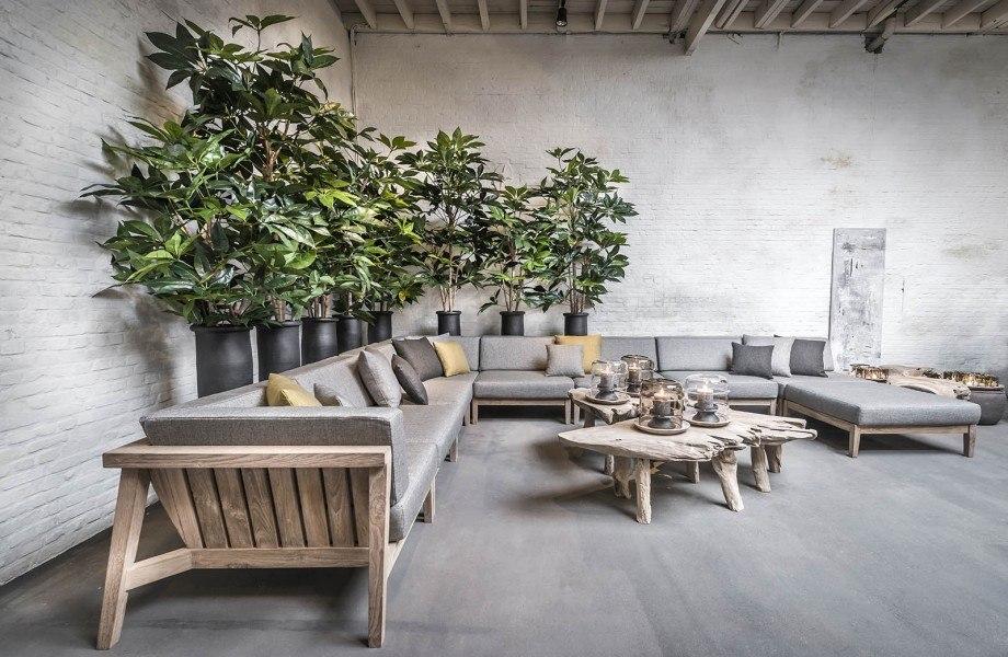 Corner setting COPENHAGUE with outdoor cushions LIMONTA