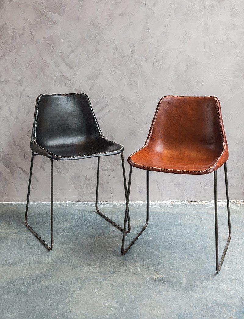 Design lederen eetkamerstoelen sol y luna woontheater for Eettafel stoel leer