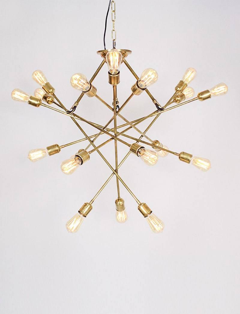 koperen luster brass atom