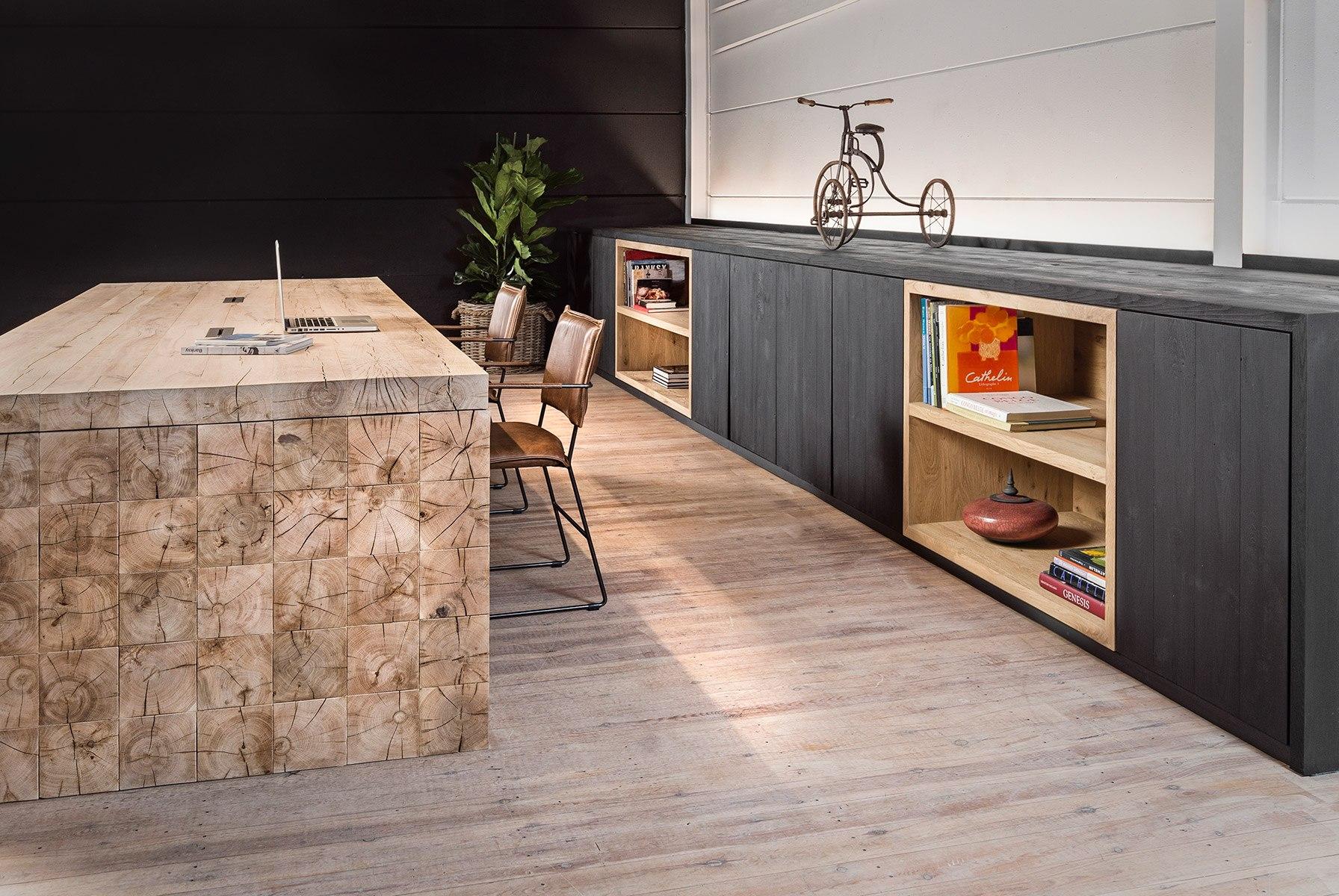 massief hout maatwerk kantoormeubilair