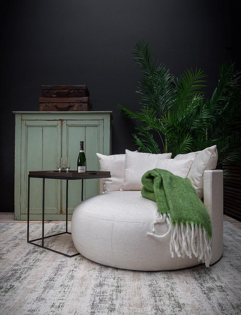 Ronde-lounge-zetel